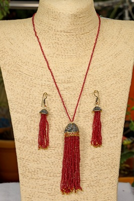 Red onyx necklace-sets