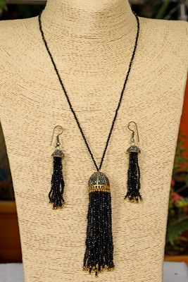Black onyx necklace-sets