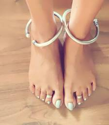 German Silver Handmade Engraved Foot Kada