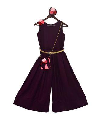 Maroon Linen Jumpsuit