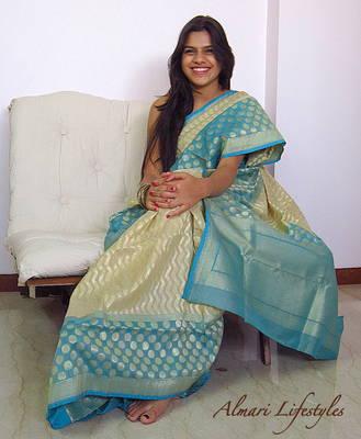 Contemporary Fun Benarasi Silk Saree