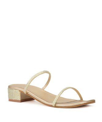 Anne Dual strap embellished sandals