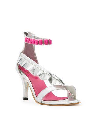 Kylie Metallic ankle strap heels