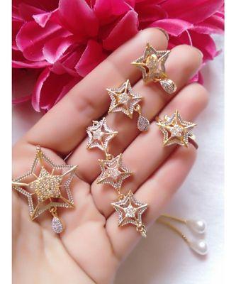 Silver american diamonds jewellery-combo