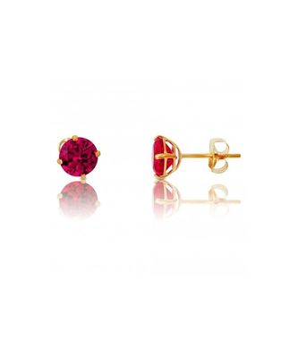 Red stone studs suitable for Kids