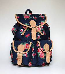 Buy Blue Floral Backpack backpack online