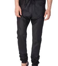 Black plain silk blend men-pyjamas
