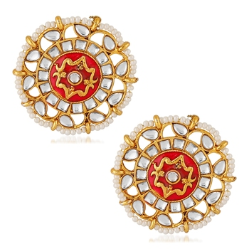 Red pearl studs