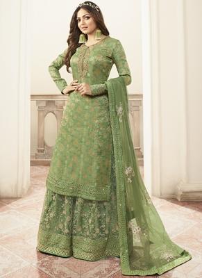Light Green Jacquard Pakistani Salwar Kameez