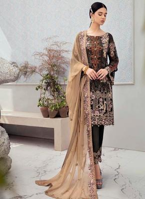 Black Georgette Pakistani Salwar Kameez