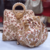 White Colored Sequin Worked Pearl Chained Potli Bag With Handbag