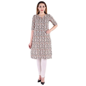 18 FOREVER V R FOR U Women  Straight Rayon Kurta and Kurti