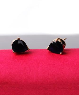 Black stone studs