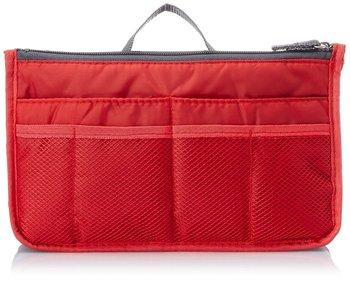Shree Shyam Product Set of 1 Pc Red Nylon Bag Organizer, Polyester Bag Organizer, Handbag Organizer