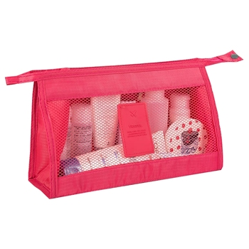 Shree Shyam Product Set of 1 Pc Pink Nylon Bag Organizer, Polyester Bag Organizer, Handbag Organizer