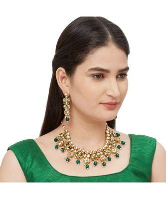 Green Kundan Necklace Sets