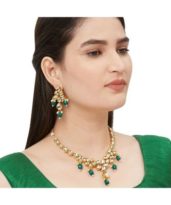 Green Kundan Necklace Sets