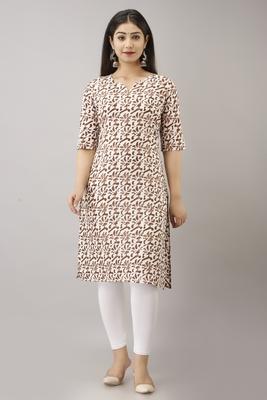 18 FOREVER V R FOR U Women's Cotton Regular Printed Kurta