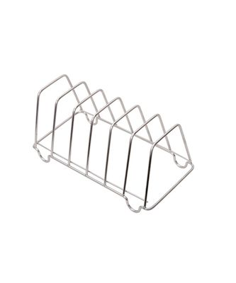 KCL Stainless Steel Chrome Finish Plate Stand/Rack for 6 Plate/Thali