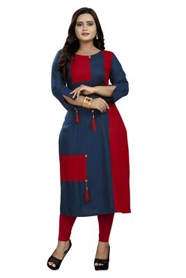 Multicolor hand woven rayon diwali-kurtis