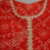 Red Colored Bandhani Print Embroidery Work Kurta With Inner