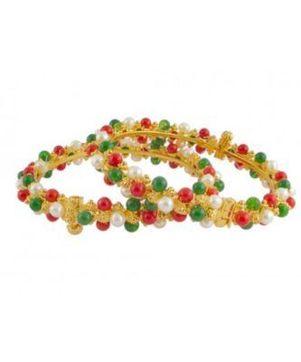 multicolor pearl bangles