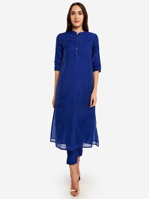 Royal Blue kurta with Trouser.