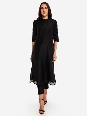 Black kurta with Trouser.