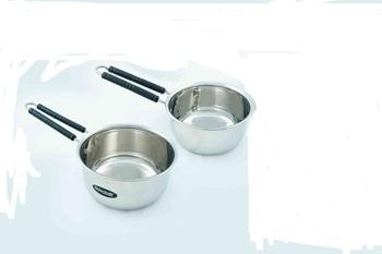 Kitchen Krafts 2pcs Plain Saucepan with handle (16+18cm)