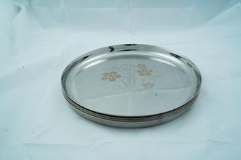 "Kitchen Krafts 6pcs Laser Touch  Apple Plate Set 14"""