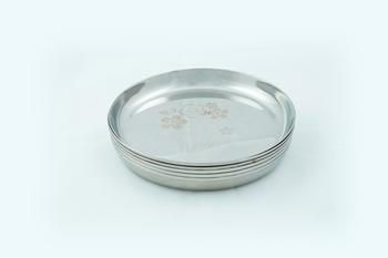 """Kitchen Krafts 6pcs Laser Touch Apple Quarter Plate 9"""""""