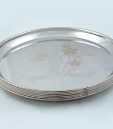 "Kitchen Krafts 6pcs Begi Plate 8"" (Laser Touch)"