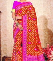 Pink Soft Weaving Silk Pattola Designer Saree For Women
