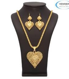 Buy Vendee Fabulous Sterling Look Heart Shape Pendant Set (7193) Pendant online