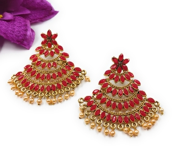 KNIGGHT ANGEL JEWELS REDJHUMKA EARRINGS