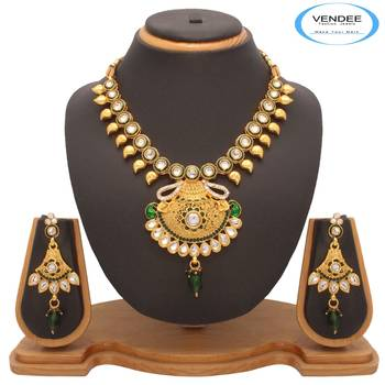 Vendee Fabulous Tradional Wear Necklace Set (7201)