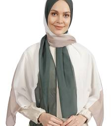 Cream Women's Bsy Magic Material Party Wear Printed Scarf Hijab