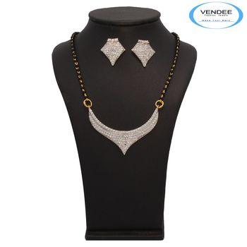 Vendee Fashion CZ Diamond Mangalsutra Pendant Set (7226)