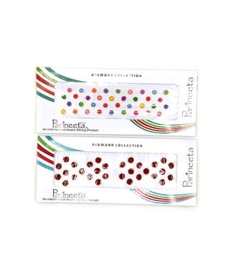 Multicolor Round Shape Velvet Sticker Bindi Tikka kumkum for Women(Pack Of 2)