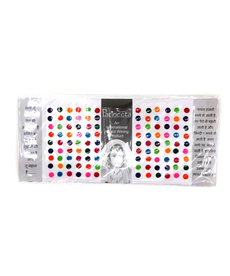 Multicolor Indian Style Plain Kumkum Bindi Stickers