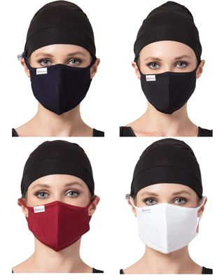 4 Pieces Of Soft & Breathable Masks made of Soft stretch cotton viscose fabric