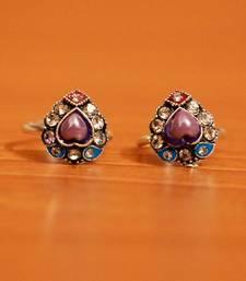 Purple zircon toe-rings