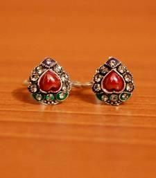 Red zircon toe-rings