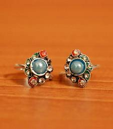 Turquoise zircon toe-rings