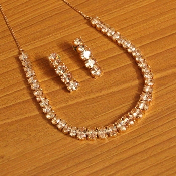 Yellow citrine necklace-sets