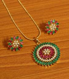Multicolor ruby pendants