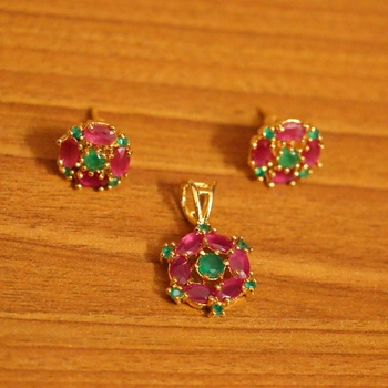 Red ruby pendants