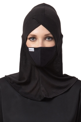 2 Pcs Set Of Under Hijab Ninja Cap and Mask Combo