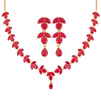 Red crystal necklaces
