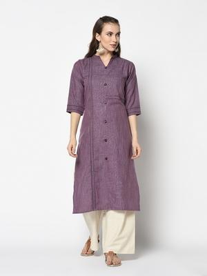 Purpal Silk Straight kurti
